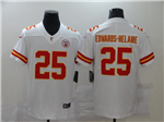 Kansas City Chiefs #25 Clyde Edwards-Helaire White Vapor Limited Jersey