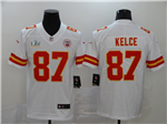 Kansas City Chiefs #87 Travis Kelce White Super Bowl LV Limited Jersey