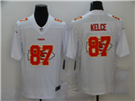 Kansas City Chiefs #87 Travis Kelce White Shadow Logo Limited Jersey