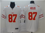 Kansas City Chiefs #87 Travis Kelce White Team Logos Fashion Limited Jersey