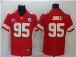 Kansas City Chiefs #95 Chris Jones Red Super Bowl LV Vapor Limited Jersey