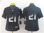 Dallas Cowboys #21 Ezekiel Elliott Women's Black Arch Smoke Limited Jersey