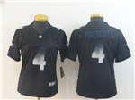 Dallas Cowboys #4 Dak Prescott Women's Black Arch Smoke Limited Jersey