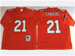 Atlanta Falcons #21 Deion Sanders Throwback Red Jersey