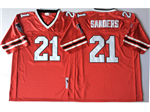 Atlanta Falcons #21 Deion Sanders 1989 Throwback Red Jersey