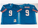 Tennessee Oiler #9 Steve McNair 1997 Throwback Blue Jersey
