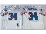 Houston oilers #34 Earl Campbell Throwback White Jersey