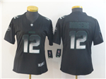 Green Bay Packers #12 Aaron Rodgers Women's Black Arch Smoke Limited Jersey