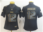 Green Bay Packers #12 Aaron Rodgers Women's Black Gold Vapor Limited Jersey