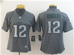 Green Bay Packers #12 Aaron Rodgers Women's Gray Camo Limited Jersey
