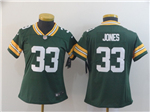 Green Bay Packers #33 Aaron Jones Women's Green Vapor Limited Jersey