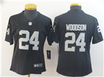 Las Vegas Raiders #24 Charles Woodson Women's Black Vapor Limited Jersey