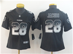 Las Vegas Raiders #28 Josh Jacobs Women's Black Arch Smoke Limited Jersey