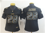 Las Vegas Raiders #28 Josh Jacobs Women's Black Gold Vapor Limited Jersey