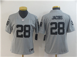 Las Vegas Raiders #28 Josh Jacobs Women's Gray Inverted Limited Jersey