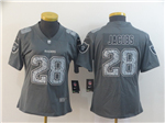 Las Vegas Raiders #28 Josh Jacobs Women's Gray Camo Limited Jersey