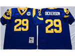 Los Angeles Rams #29 Eric Dickerson Blue Throwback Jersey