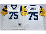 Los Angeles Rams #75 Deacon Jones Throwback White Jersey