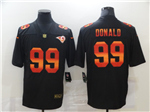 Los Angeles Rams #99 Aaron Donald Black Colorful Fashion Limited Jersey