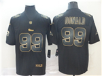 Los Angeles Rams #99 Aaron Donald Black Gold Vapor Limited Jersey