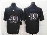 Los Angeles Rams #99 Aaron Donald Black Shadow Logo Limited Jersey
