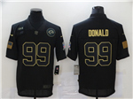 Los Angeles Rams #99 Aaron Donald 2020 Black Salute To Service Limited Jersey