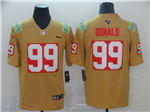Los Angeles Rams #99 Aaron Donald Gold City Edition Limited Jersey