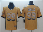 Los Angeles Rams #99 Aaron Donald Gold Drift Fashion Limited Jersey