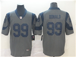 Los Angeles Rams #99 Aaron Donald Gray Inverted Limited Jersey