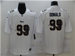 Los Angeles Rams #99 Aaron Donald White Shadow Logo Limited Jersey