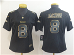 Baltimore Ravens #8 Lamar Jackson Women's Black Gold Vapor Limited Jersey