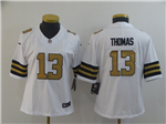 New Orleans Saints #13 Michael Thomas Women's White Color Rush Limited Jersey