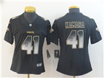 New Orleans Saints #41 Alvin Kamara Women's Black Arch Smoke Limited Jersey