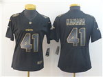 New Orleans Saints #41 Alvin Kamara Women's Black Gold Vapor Limited Jersey
