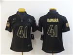 New Orleans Saints #41 Alvin Kamara 2020 Women's Black Salute To Service Limited Jersey