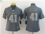 New Orleans Saints #41 Alvin Kamara Women's Gray Camo Limited Jersey