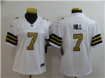 New Orleans Saints #7 Taysom Hill Women's White Color Rush Limited Jersey