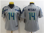 Seattle Seahawks #14 DK Metcalf Women's Gray Vapor Limited Jersey