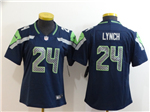 Seattle Seahawks #24 Marshawn Lynch Women's Blue Vapor Limited Jersey