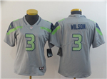Seattle Seahawks #3 Russell Wilson Women's Gray Inverted Limited Jersey
