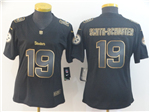 Pittsburgh Steelers #19 JuJu Smith-Schuster Women's Black Gold Vapor Limited Jersey