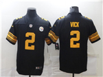 Pittsburgh Steelers #2 Michael Vick Black Color Rush Limited Jersey