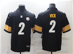 Pittsburgh Steelers #2 Michael Vick Black Vapor Limited Jersey