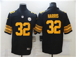 Pittsburgh Steelers #32 Franco Harris Black Color Rush Limited Jersey