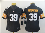 Pittsburgh Steelers #39 Minkah Fitzpatrick Women's Alternate Black Vapor Limited Jersey