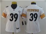 Pittsburgh Steelers #39 Minkah Fitzpatrick Women's White Vapor Limited Jersey