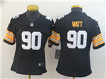 Pittsburgh Steelers #90 T.J. Watt Women's Alternate Black Vapor Limited Jersey