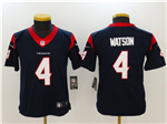 Houston Texans #4 Deshaun Watson Youth Navy Vapor Untouchable Limited Jersey