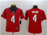 Houston Texans #4 Deshaun Watson Youth Red Vapor Untouchable Limited Jersey
