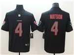 Houston Texans #4 Deshaun Watson Black Vapor Impact Limited Jersey